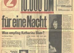 DIE VERLORENE EHRE DER KATHARINA BLUM // Requisiten / Z Zeitung 1a