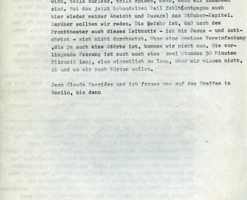DIE BLECHTROMMEL // Korrespondenz / Brief an Günter Grass 1a