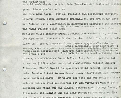 BAAL // Presse / Vorwort Dr. Kaiser
