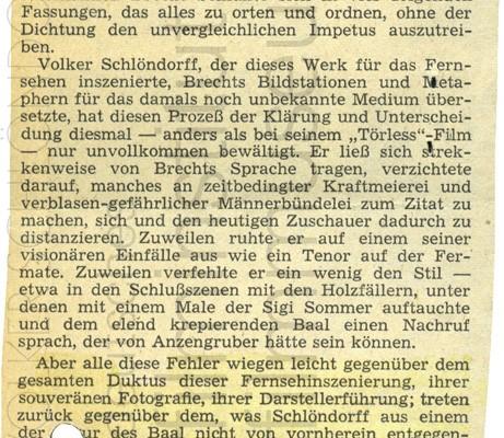 BAAL // Presse // Filmkritik Frankfurter Allgemeine Zeitung