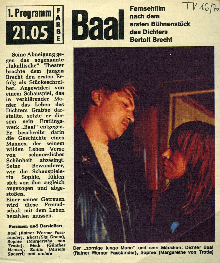 BAAL // Presse / TV-Magazin 2