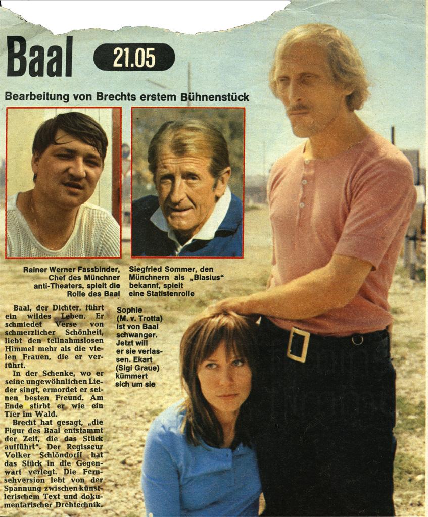 BAAL // Presse / TV-Magazin