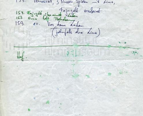 DIE BLECHTROMMEL // Produktionsunterlagen / Notizen und Skizzen 1c