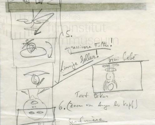DIE BLECHTROMMEL // Produktionsunterlagen / Storyboard Geburt b