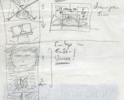 DIE BLECHTROMMEL // Produktionsunterlagen / Storyboard Geburt c