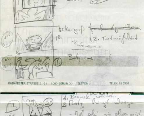 DIE BLECHTROMMEL // Produktionsunterlagen / Storyboard Geburt d