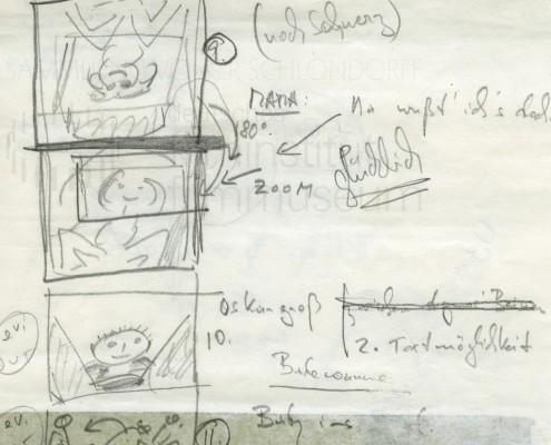 DIE BLECHTROMMEL // Produktionsunterlagen / Storyboard Geburt f