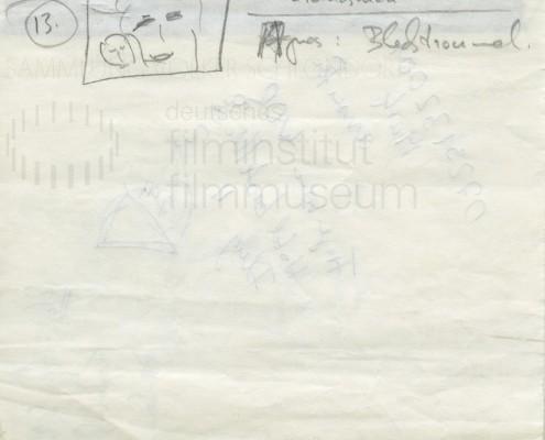 DIE BLECHTROMMEL // Produktionsunterlagen / Storyboard Geburt g