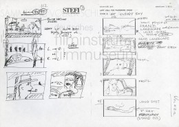 "HOMO FABER // Produktionsunterlagen / Storyboard ""Scene 112"""