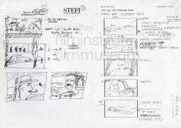"HOMO FABER // Produktionsunterlagen / Storyboard ""Scene 112"""