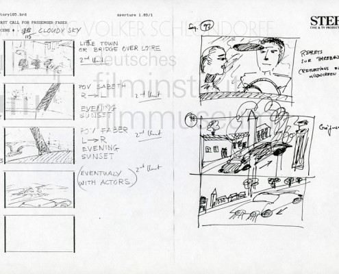 "HOMO FABER // Produktionsunterlagen / Storyboard ""Scene 115"""
