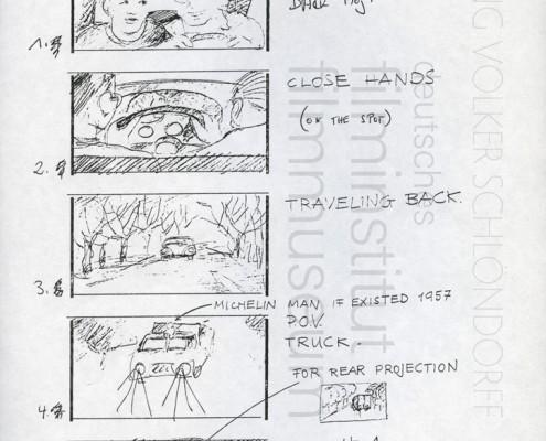"HOMO FABER // Produktionsunterlagen / Storyboard ""Scene 117"""