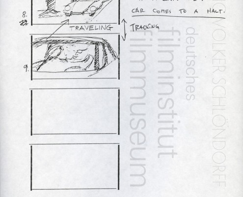 "HOMO FABER // Produktionsunterlagen / Storyboard ""Scene 118"""