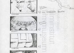 HOMO FABER // Produktionsunterlagen / Storyboard Flugzeugabsturz 1