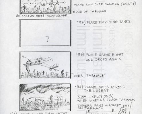 HOMO FABER // Produktionsunterlagen / Storyboard Flugzeugabsturz 3