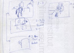 "HOMO FABER // Produktionsunterlagen / Storyboard ""Scene 2"""