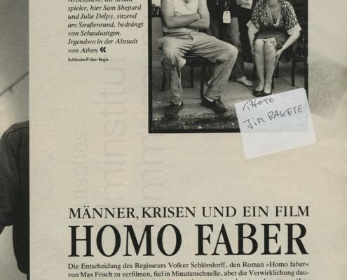HOMO FABER // Presse / Filmkritik Zeit Magazin b
