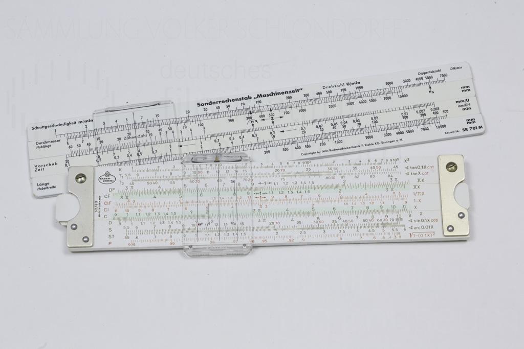 """HOMO FABER // Requisit / Rechenstab """"Maschinenzeit"""" 1a"""