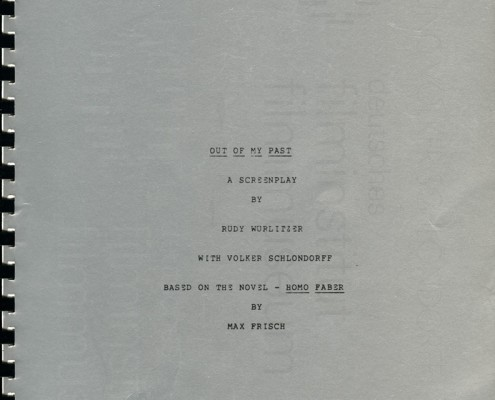 HOMO FABER // Vorbereitungsmaterial / Erste Fassung Drehbuch (Auszug)