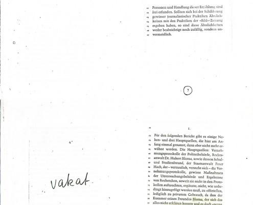 DIE VERLORENE EHRE DER KATHARINA BLUM // Vorbereitungsmaterial / Druckfahnen des Romans a
