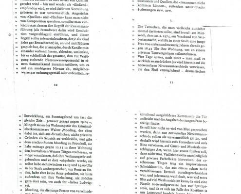 DIE VERLORENE EHRE DER KATHARINA BLUM // Vorbereitungsmaterial / Druckfahnen des Romans b