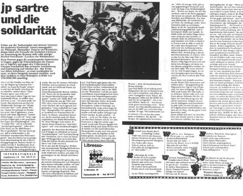 DIE VERLORENE EHRE DER KATHARINA BLUM // Presse / Artikel 35. Blatt - Stadtzeitung für München c