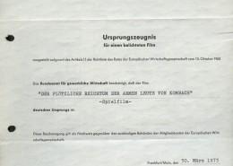 DER PLÖTZLICHE REICHTUM DER ARMEN LEUTE VON KOMBACH // Sonstiges / Gewerbliches Ursprungszeugnis 1