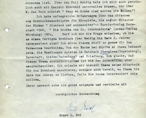 DER PLÖTZLICHE REICHTUM DER ARMEN LEUTE VON KOMBACH // Korrespondenz / Ernst Erd 1b