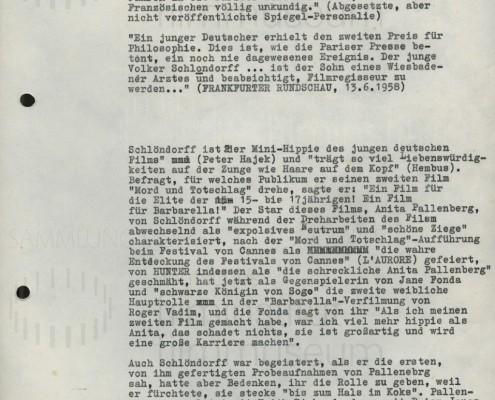 MORD UND TOTSCHLAG // Presse / Pressetext über Schlöndorff 1