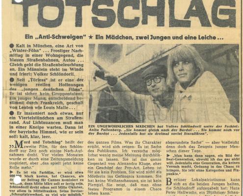 MORD UND TOTSCHLAG // Presse / Der Abend