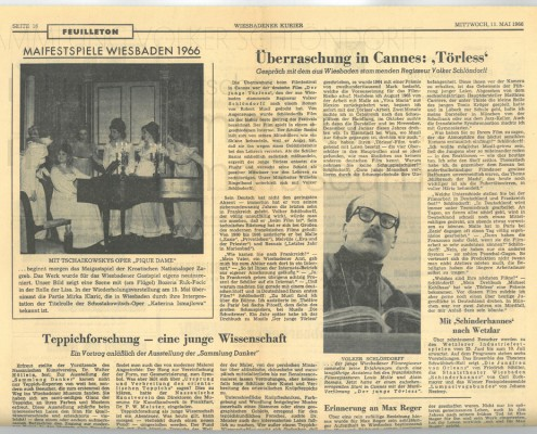 DER JUNGE TÖRLESS // Presse / Filmkritik Wiesbadener Kurier
