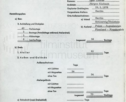 DIE BLECHTROMMEL // Vorbereitungsmaterial / Kostenvoranschlag a