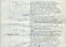 DIE BLECHTROMMEL // Produktionsunterlagen / Notizen zur Maiwiesen-Sequenz 1