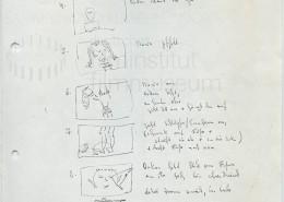 DIE BLECHTROMMEL // Produktionsunterlagen / Storyboard Umkleidekabine a