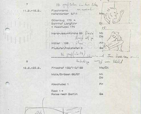 DIE BLECHTROMMEL // Produktionsunterlagen / Storyboard Umkleidekabine b