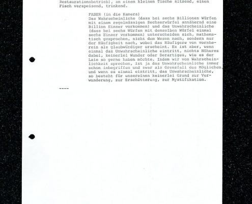 HOMO FABER // Vorbereitungsmaterial / Erste Fassung Drehbuch Pilliod (Auszug) d