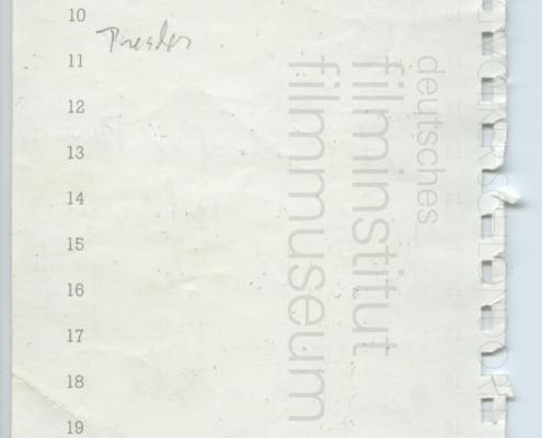DIE VERLORENE EHRE DER KATHARINA BLUM // Produktionsunterlagen / Notizen 1b