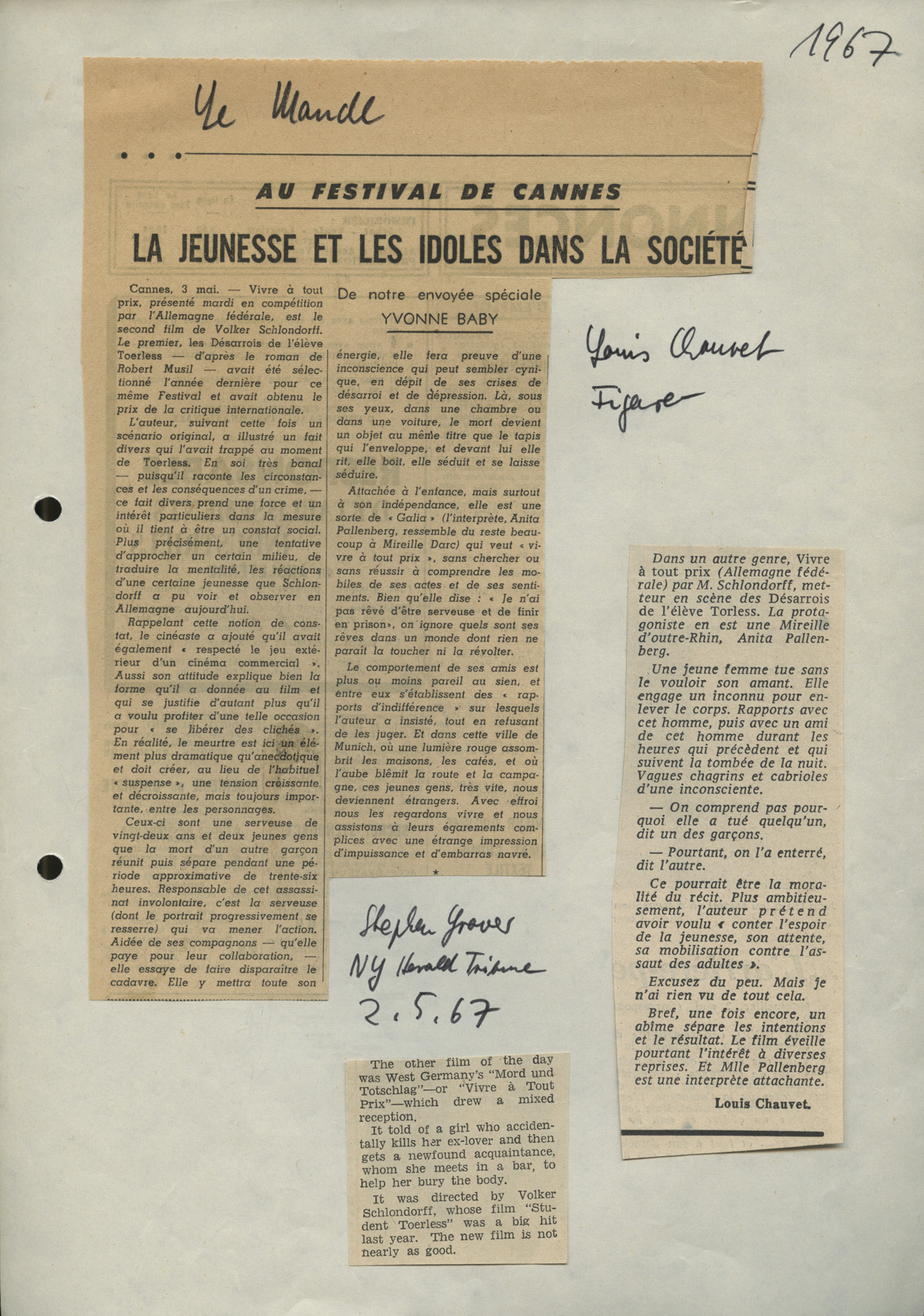 MORD UND TOTSCHLAG // Presse / Le Monde