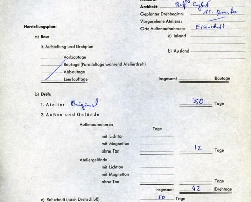 DER JUNGE TÖRLESS // Vorbereitungsmaterial / Kostenvoranschlagss // Kostenvoranschlag