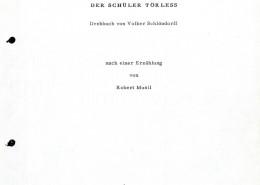 DER JUNGE TÖRLESS // Produktionsunterlagen / Drehbuchauszug (PDF)