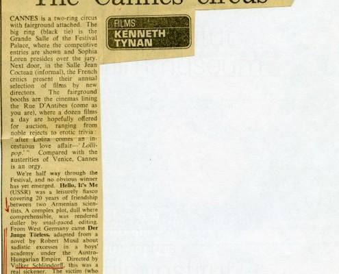 DER JUNGE TÖRLESS // Presse / The Observer