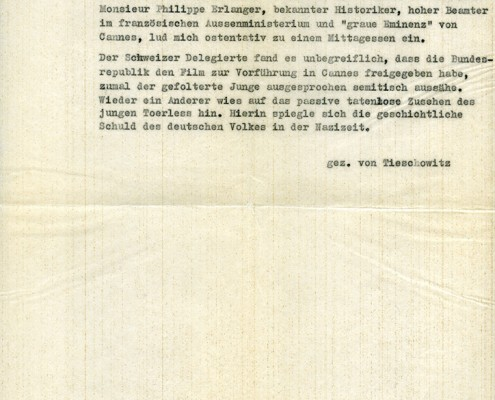 DER JUNGE TÖRLESS // Korrespondenz / Tieschowitz 4