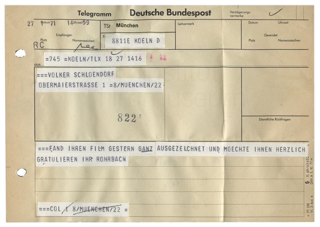 DER PLÖTZLICHE REICHTUM DER ARMEN LEUTE VON KOMBACH // Korrespondenz / Günter Rohrbach