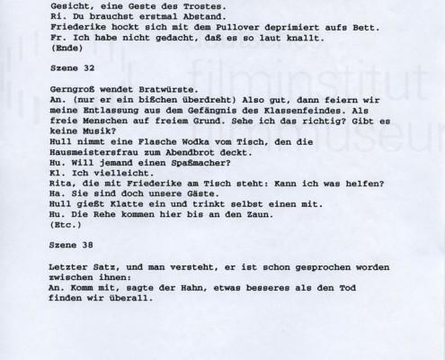 DIE STILLE NACH DEM SCHUSS // Vorbereitungsmaterial / Drehbuchnotizen 8a