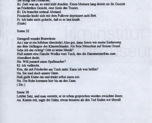 DIE STILLE NACH DEM SCHUSS // Vorbereitungsmaterial / Drehbuchnotizen 9a