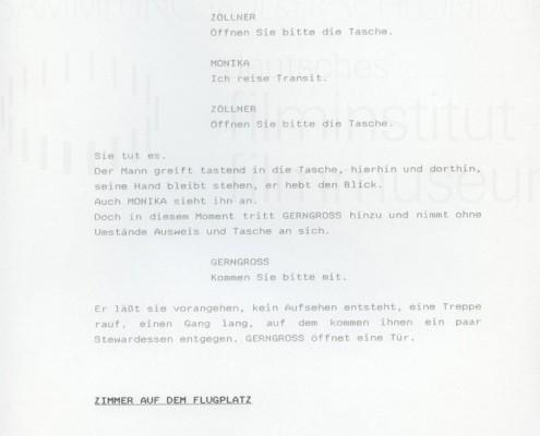 DIE STILLE NACH DEM SCHUSS // Vorbereitungsmaterialien / Drehbuchfassung 1b