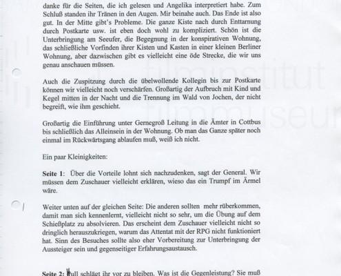 DIE STILLE NACH DEM SCHUSS // Korrespondenz / Wolfgang Kohlhaase 1