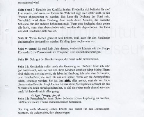 DIE STILLE NACH DEM SCHUSS // Korrespondenz / Wolfgang Kohlhaase 1a