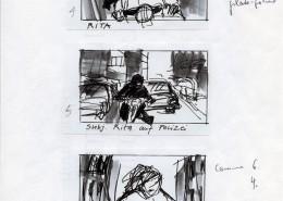 """DIE STILLE NACH DEM SCHUSS // Produktionsunterlagen / Storyboard """"Motorrad"""" 2"""