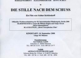 DIE STILLE NACH DEM SCHUSS // Presse / Presseheft